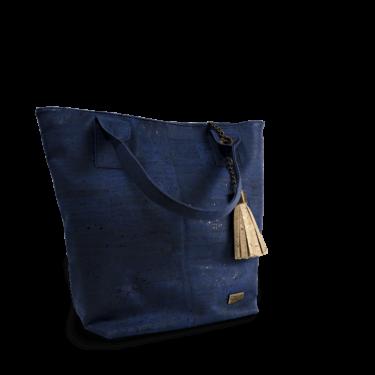 Korktasche, Kork Tasche Tassel, Blue Dark \ Nature Cork, teaser