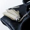 Korktasche, Kork Tasche Tassel, Black \ White, editorial