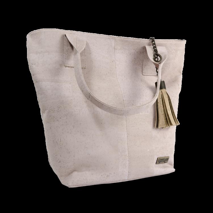 Korktasche, Kork Tasche Tassel, Nature Cork \ Dusty Pink, side
