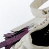 Korktasche, Kork Tasche Tassel, White \ Dusty Pink, editorial