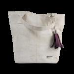 Korktasche, Kork Tasche Tassel, White \ Dusty Pink, front