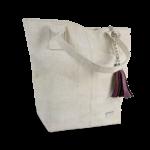 Korktasche, Kork Tasche Tassel, White \ Dusty Pink, side