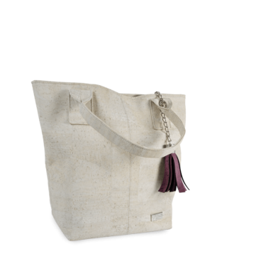 Korktasche, Kork Tasche Tassel, White \ Dusty Pink, teaser