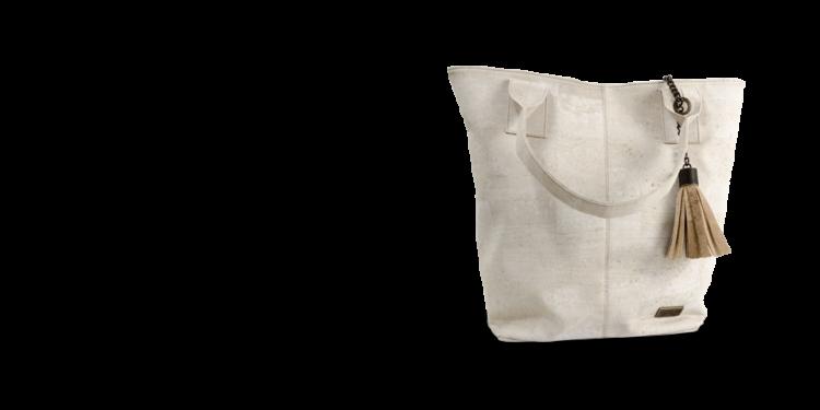 Korktasche, Kork Tasche Tassel, White \ Nature Cork, teaser