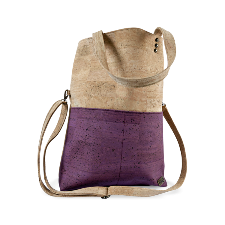 Korktasche, Kork Tasche Shopper, Nature Cork \ Dusty Pink, front
