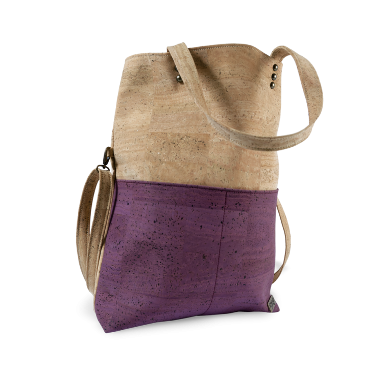Korktasche, Kork Tasche Shopper, Nature Cork \ Dusty Pink, side