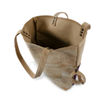 Korktasche, Kork Tasche Shopper, Nature Cork \ Dusty Pink, open