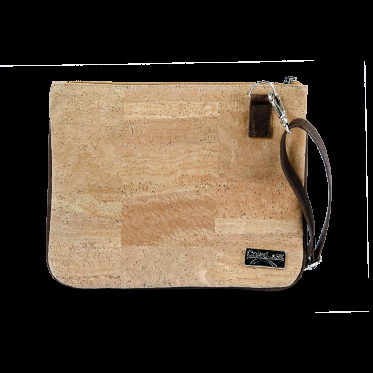 Korktasche, Kork Tasche Bijou, clutch, Nature Cork \ Brown, front