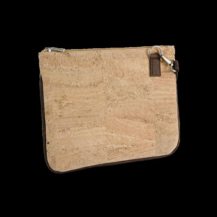 Korktasche, Kork Tasche Bijou, clutch, Nature Cork \ Brown, back