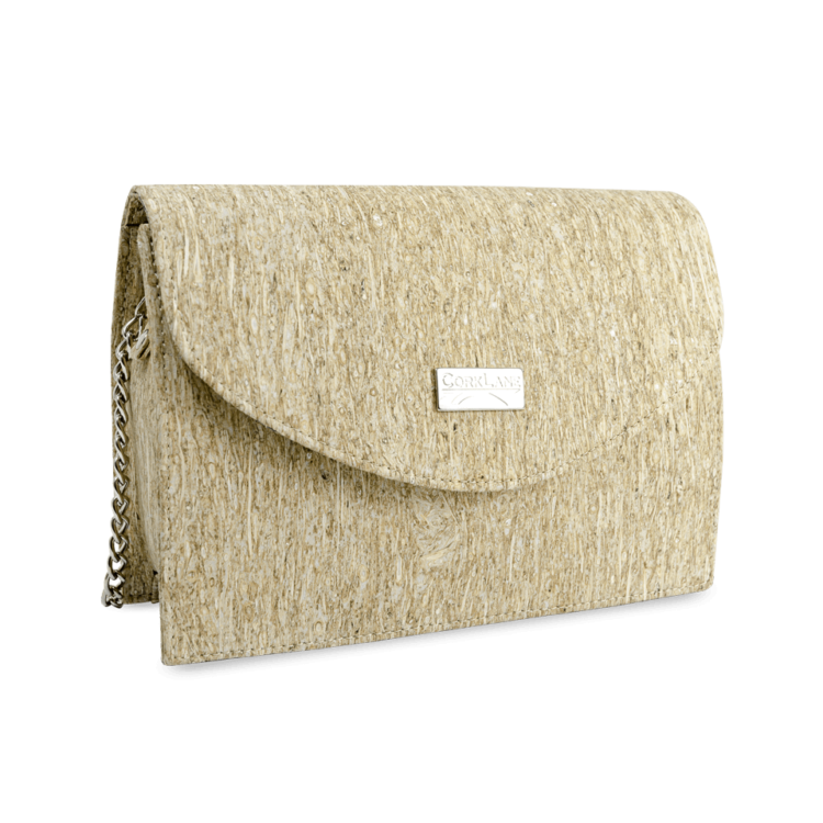 Korktasche, Kork Tasche Purse, Straw Nature, side