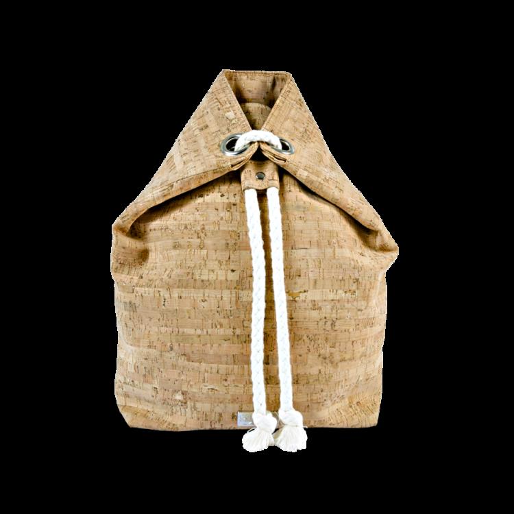 Korkrucksack, Kork Rucksack Gymie, Striped Cork, front