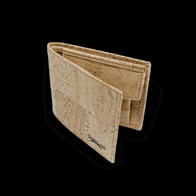 Korkportemonnaie, Kork Portemonnaie Men's Wallet M, Nature Cork, front