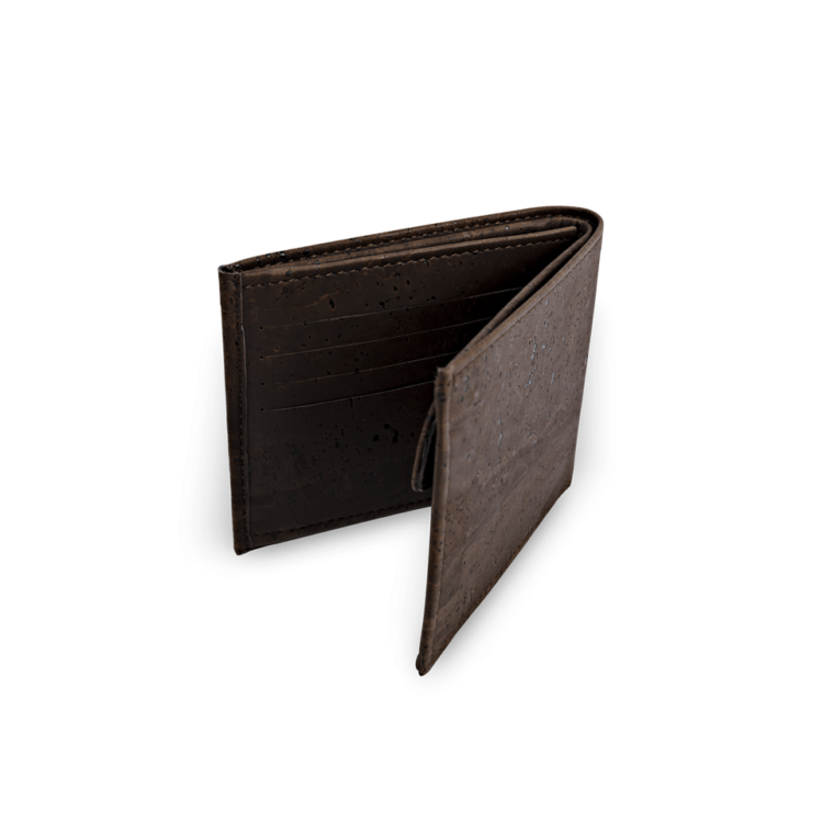 Korkportemonnaie, Kork Portemonnaie Men's Wallet L, Brown, back