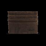 Korkportemonnaie, Kork Portemonnaie Card Holder, Brown, front