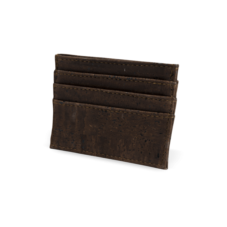 Korkportemonnaie, Kork Portemonnaie Card Holder, Brown, back