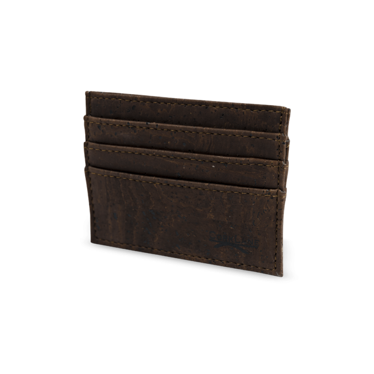 Korkportemonnaie, Kork Portemonnaie Card Holder, Brown, side