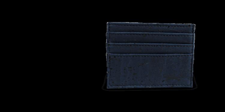 Korkportemonnaie, Kork Portemonnaie Card Holder,Navy Blue, teaser