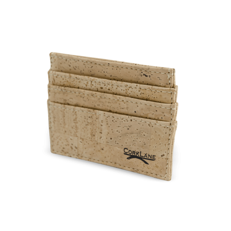 Korkportemonnaie, Kork Portemonnaie Card Holder,Nature Cork, front
