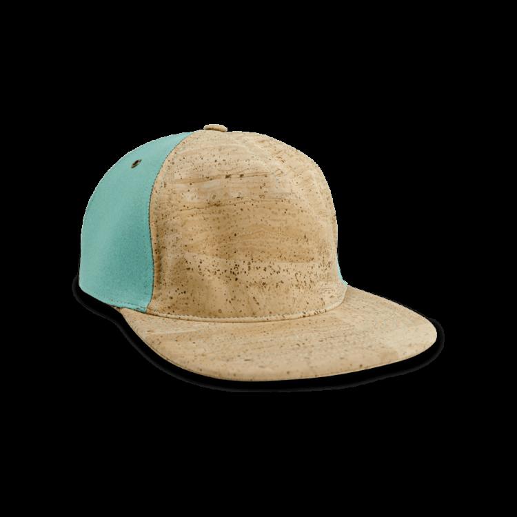 Korkhut, Kork Hut Skate Cap, Nature Cork \ Turquoise, front