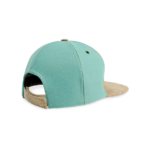 Korkhut, Kork Hut Skate Cap, Nature Cork \ Turquoise, back