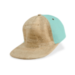 Korkhut, Kork Hut Skate Cap, Nature Cork \ Turquoise, side