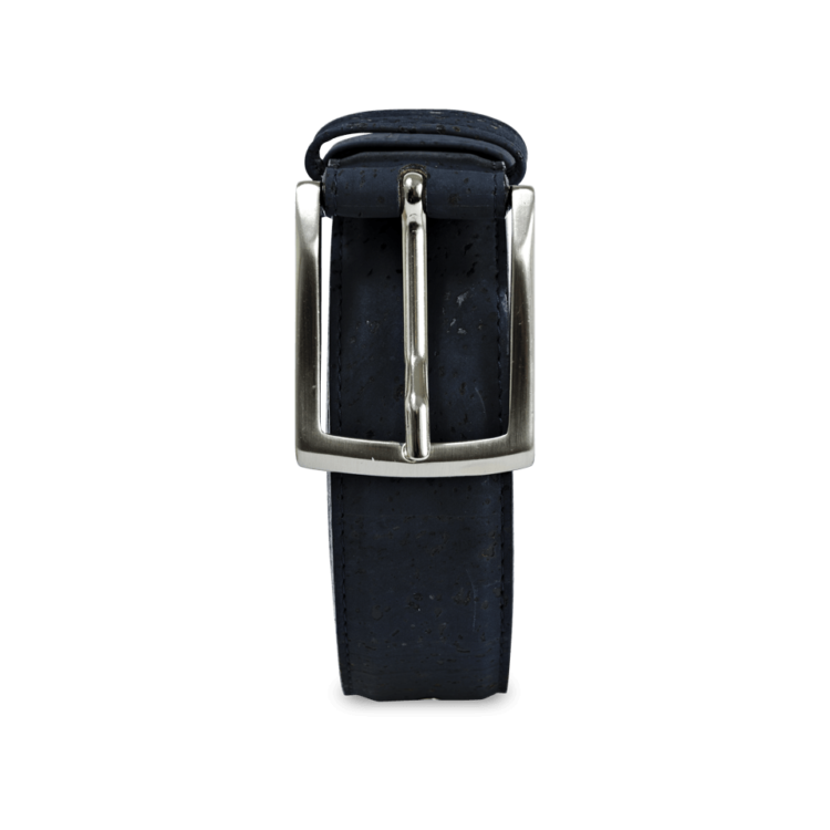 Korkgürtel, Kork Gürtel Drift 35mm, Navy Blue, front