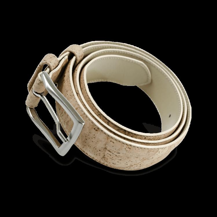 Korkgürtel, Kork Gürtel Drift 35mm, Nature Cork, front and side