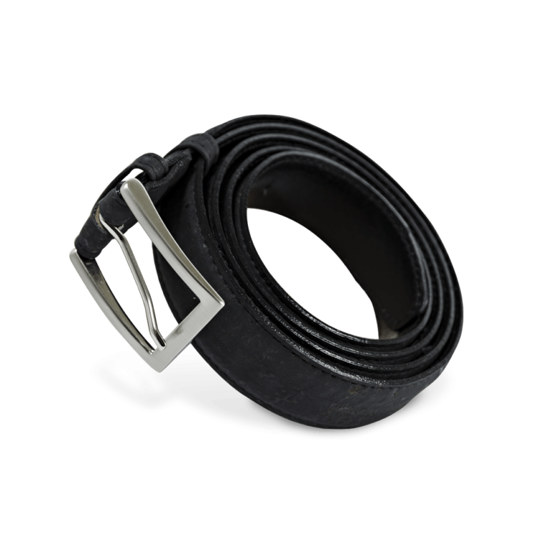 Korkgürtel, Kork Gürtel Drift 30mm, Black, side