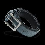 Korkgürtel, Kork Gürtel Drift 30mm, Blue, side