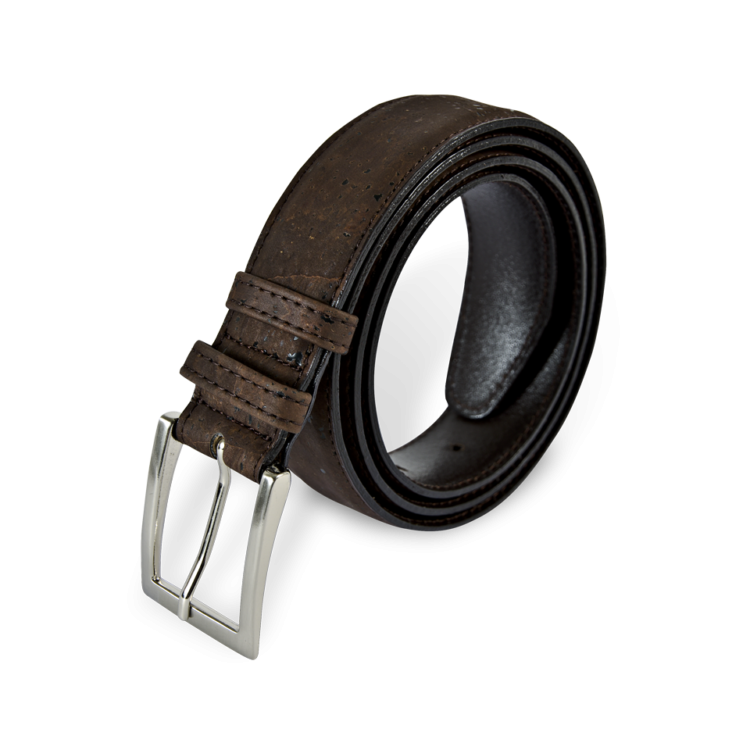 Korkgürtel, Kork Gürtel Drift 30mm, Brown, front and side