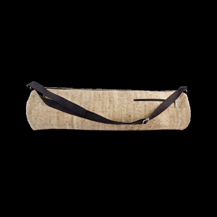 Kork Tasche, Korktasche , Accessoires, Kork Yoga Bag, Striped Cork, front